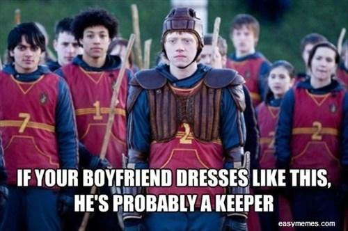 Harry Potter Ron Weasley keeper pun - 7153557760