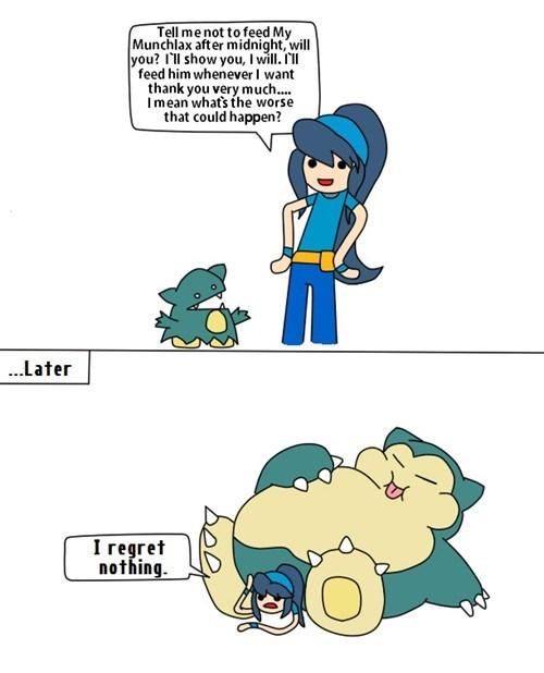 Pokémon snorlax munchlax food - 7153664512
