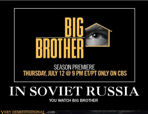 TV,big brother,Soviet Russia