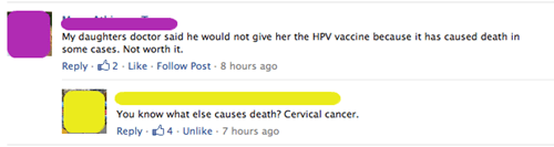 vaccines,HPV,logic,cervical cancer