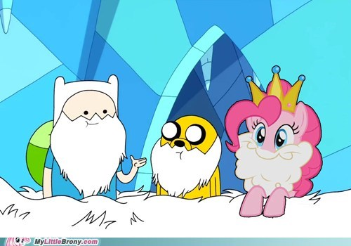 Adventure Time with Finn, Jake and Pinkie Pie?!