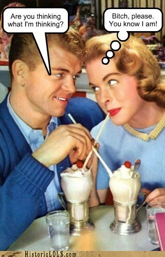 retro milkshakes couples - 7153974272