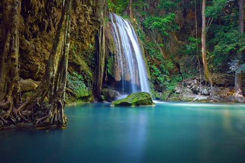 thailand,landscape,waterfall,lake