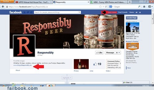 beer please drink responsibly responsibly failbook g rated
