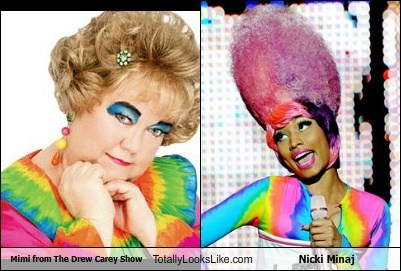 mimi,totally looks like,nicki minaj,drew carey show