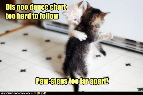 Dis noo dance chart too hard to follow Paw-steps too far apart!