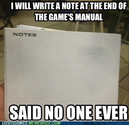I have actually used those for notes.