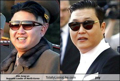 kim jong-un,azns,glasses,totally looks like,psy