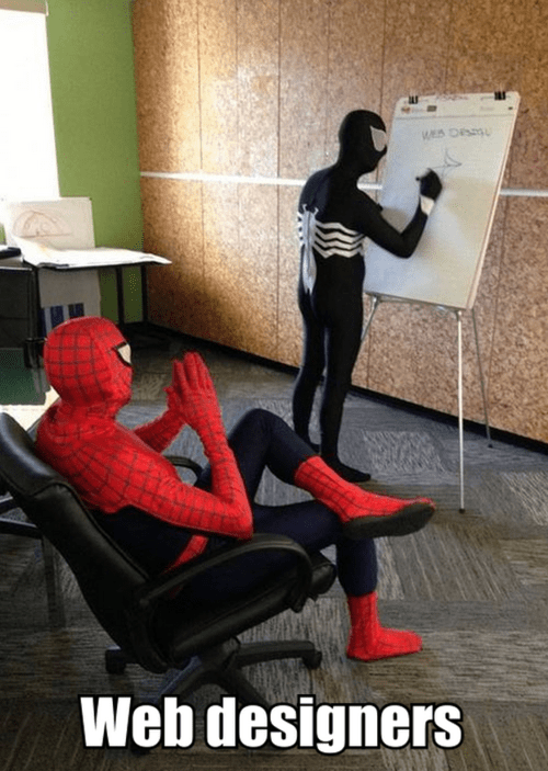 web designers,charts,Spider-Man,Venom,monday thru friday,g rated