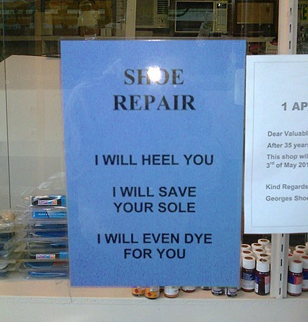 shoe repair signs cobblers - 7155445248