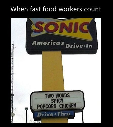popcorn chicken,counting,sonic,monday thru friday,g rated