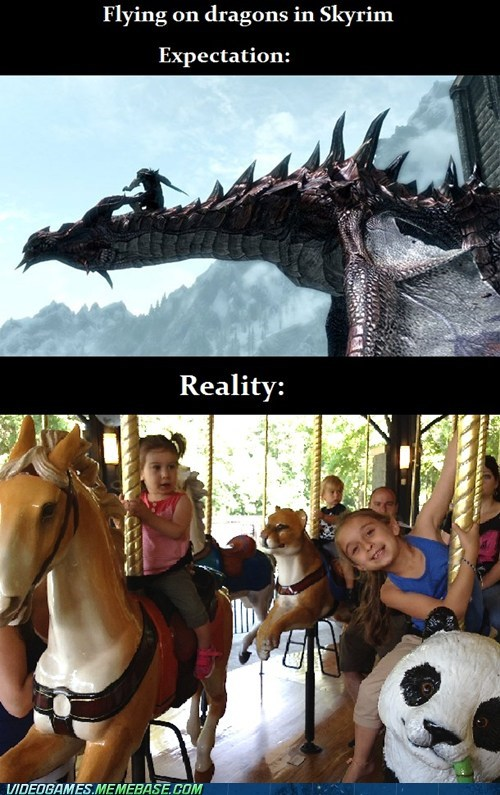 bethesda expectation vs. reality Skyrim - 7155463680