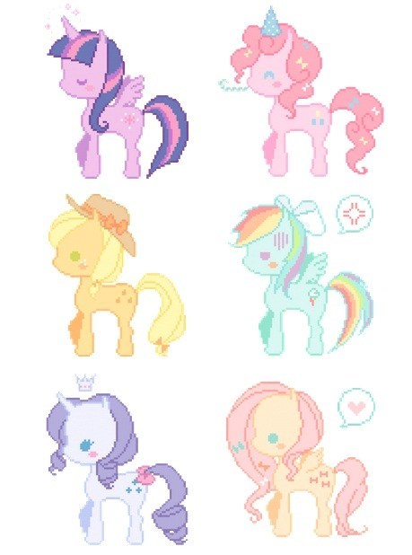 ponies art cute Pastel - 7155504896