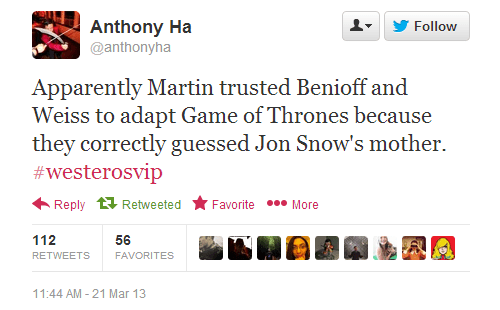 Jon Snow twitter Game of Thrones TV - 7155511808