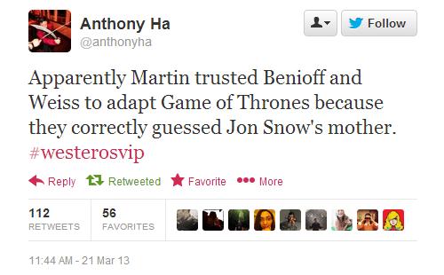 Jon Snow twitter Game of Thrones TV - 7155511808