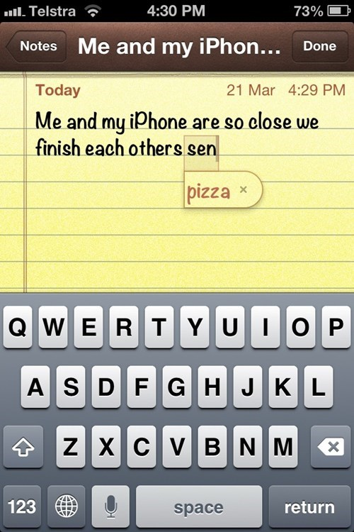 pizza notes iphone - 7155537664