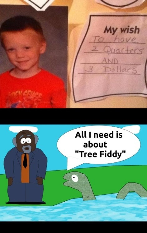 South Park tree fiddy money - 7155655168