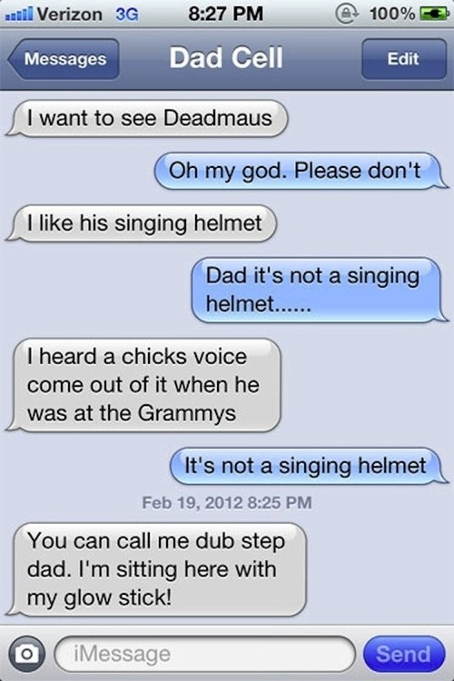 Deadmau5 dads iPhones dubstep autowocrecks g rated - 7155665152