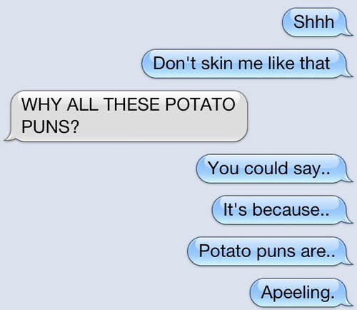 iPhones,puns,potatoes,g rated,AutocoWrecks