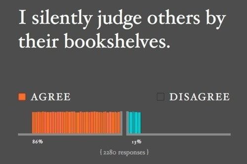 judge literature petty bookshelves