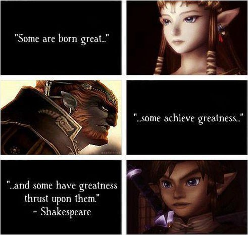 quotes,link,shakespeare,Ganondorf,zelda