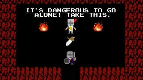 its dangerous to go alone,dark souls,zelda