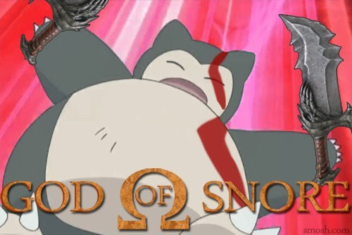 crossover,god of war,snorlax,video games