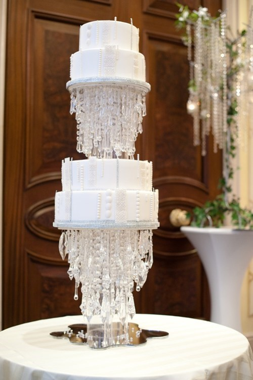 cake crystals chandeliers