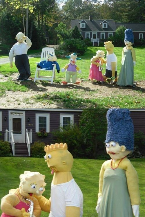 costume lawn displays the simpsons - 7155948032