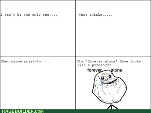 forever alone potato - 7156093184