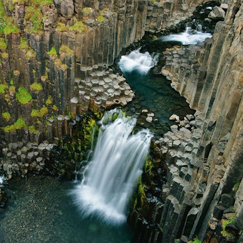 litlanesfoss volcano waterfall science geology - 7156143616