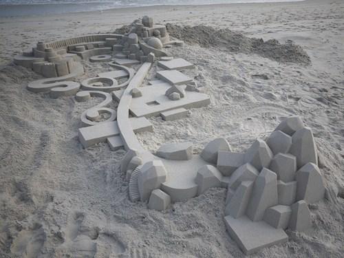 sand castle design beach - 7156213504
