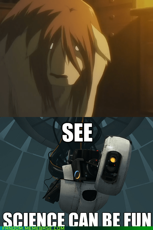 crossover,anime,fullmetal alchemist,Portal,video games,chimera