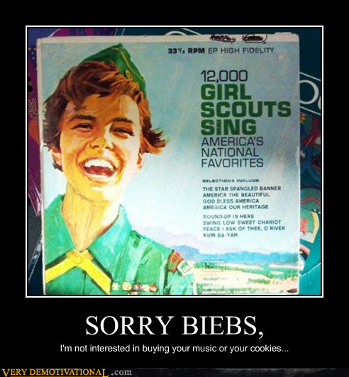spitting image girl scouts justin bieber - 7156461056