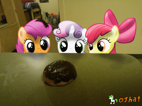 charming tag campaigners,donuts,IRL,cutie mark crusaders