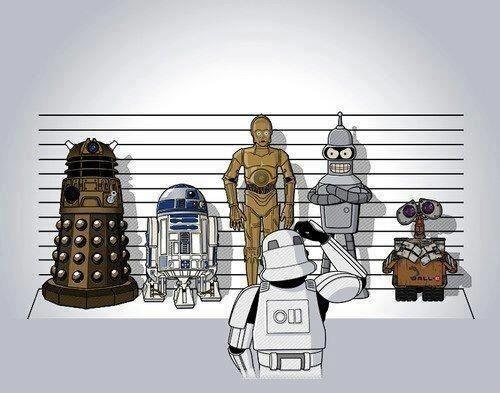 crossover star wars Fan Art wall.e doctor who futurama - 7156961792