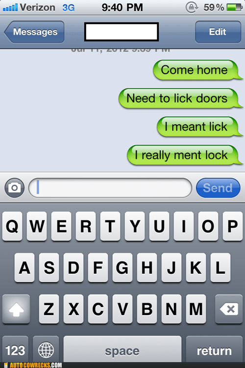 door autocorrected lock iPhones lick - 7157118976