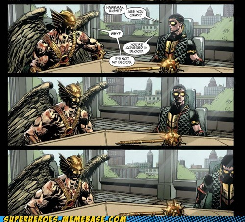 JLA Blood redeemed off the page Hawkman - 7157709056