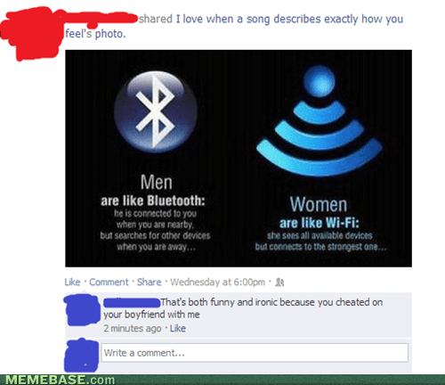 battle of the sexes,men,wifi,gender differences,bluetooth,women