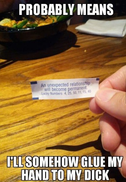 fortune cookie fapping bad luck - 7158527488