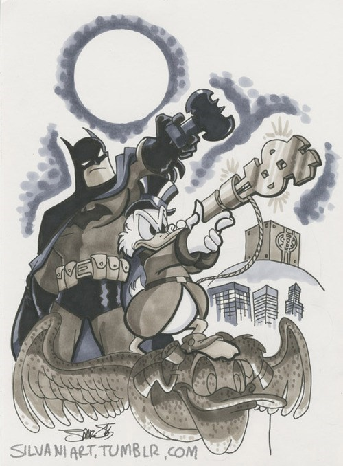 scrooge mcduck art awesome batman