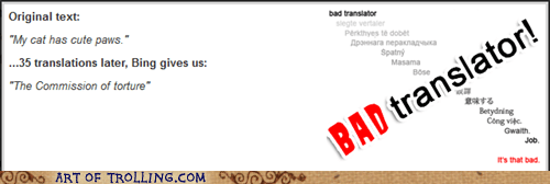 Bad Translator Cats evil cats - 7158676480