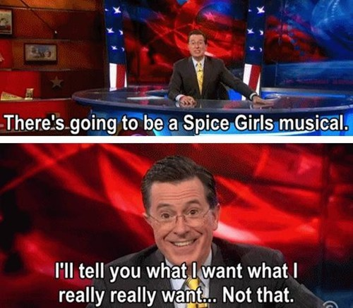 spice girls,TV,musical,stephen colbert