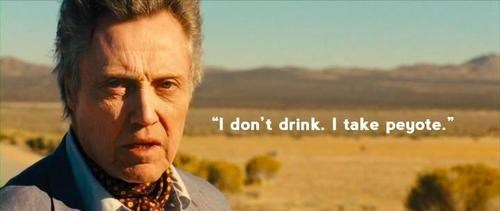 much better,peyote,drinking,christopher walken,seven psychopaths