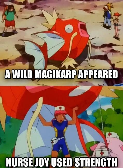 Pokémon magikarp anime strength