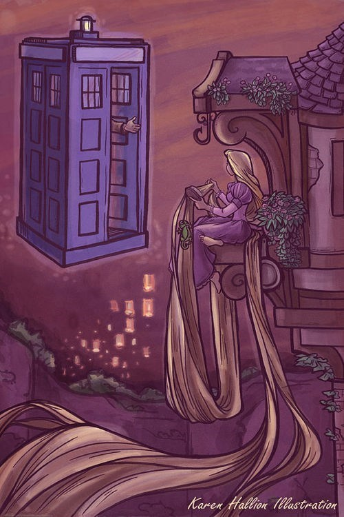 crossover,Fan Art,doctor who,rapunzel