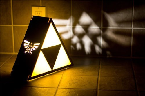 lamp,IRL,triforce,zelda