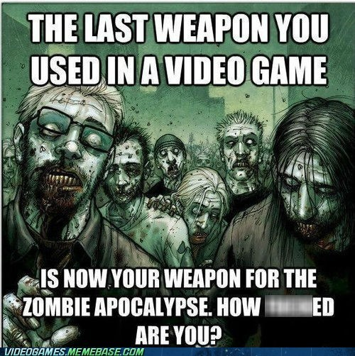 zombie apocalypse,video games,weapons