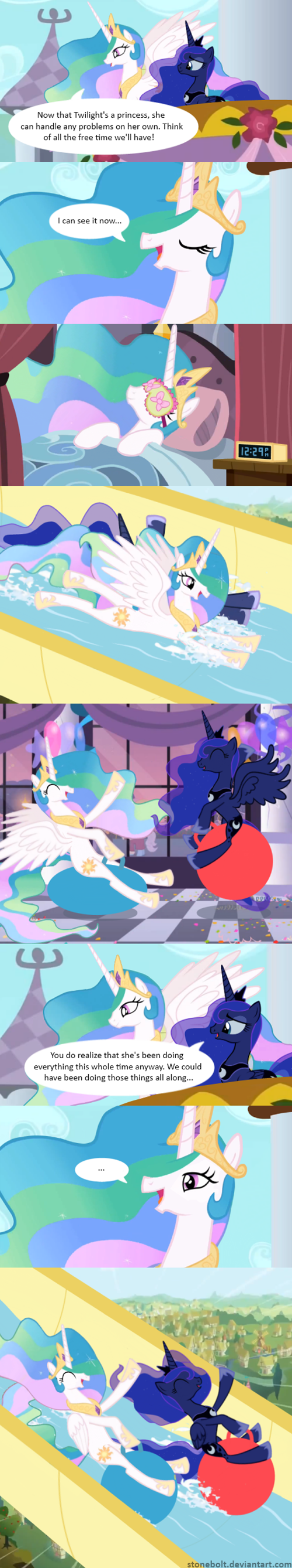 bolt of stone,comics,princess celestia,luna