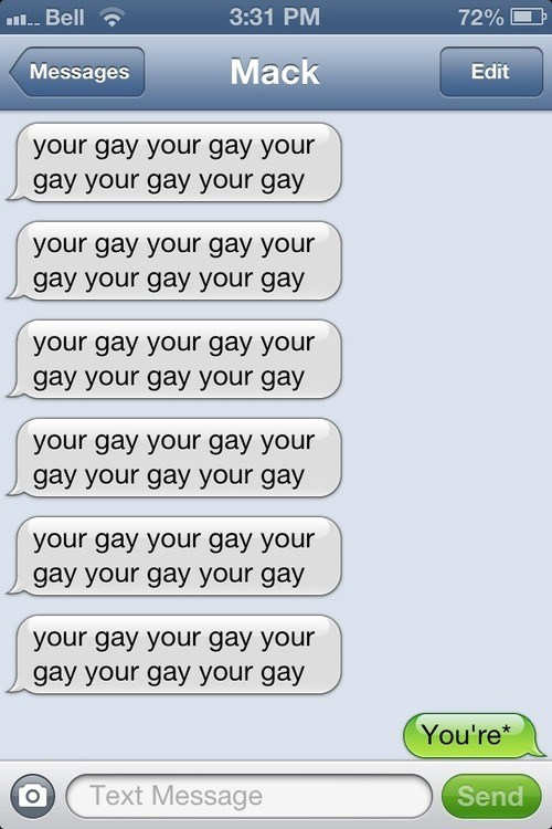 your iPhones gay stupid youre - 7159056896